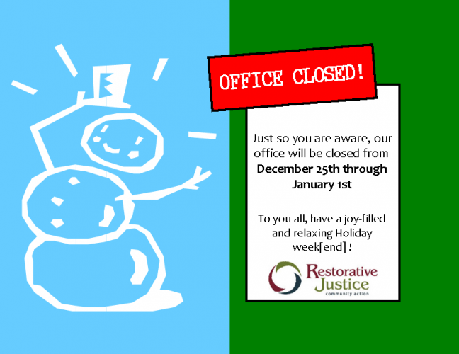 Office Closed Dec 25-Jan 1