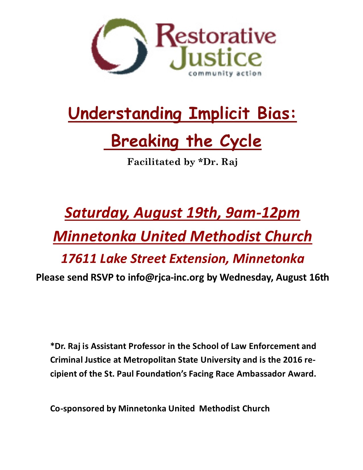 August Implicit Bias Flyer