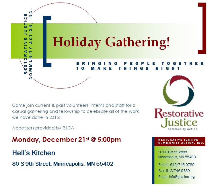 Holiday Gathering Dec. 2015