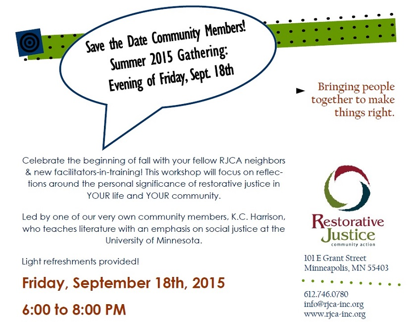Save the Date Summer Gathering '15